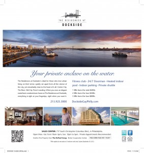Dockside ad - Fall 2013, G Philly magazine