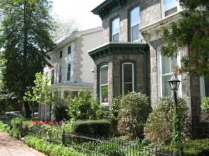 Historic Victorian homes in Powelton Village