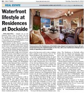 Dockside PR_DelCo Times_Dec 2013