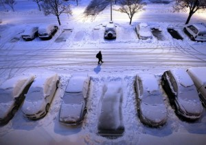 Dockside_Winter parking in the city_Storm_parkinglot