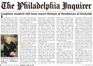Dockside_Irv Starkman Story_Philadelphia Inquirer_June 2014