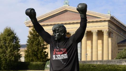 Dockside_Philadelphia Marathong_Rocky statue