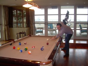 Joe DeCamara_Shooting Pool-Dockside Club Room_Fall 2014_DSCN1121