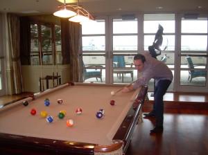 Joe DeCamara_Shooting Pool-Dockside Club Room_Fall 2014_DSCN1121