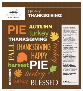 Dockside Thanksgiving email
