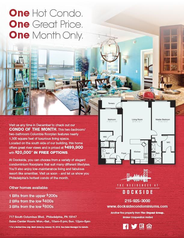 Dockside Dec Condo of Month flyer
