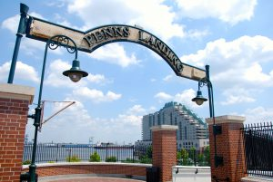 Dockside Blog_Penn's Landing Sign_Dockside in background