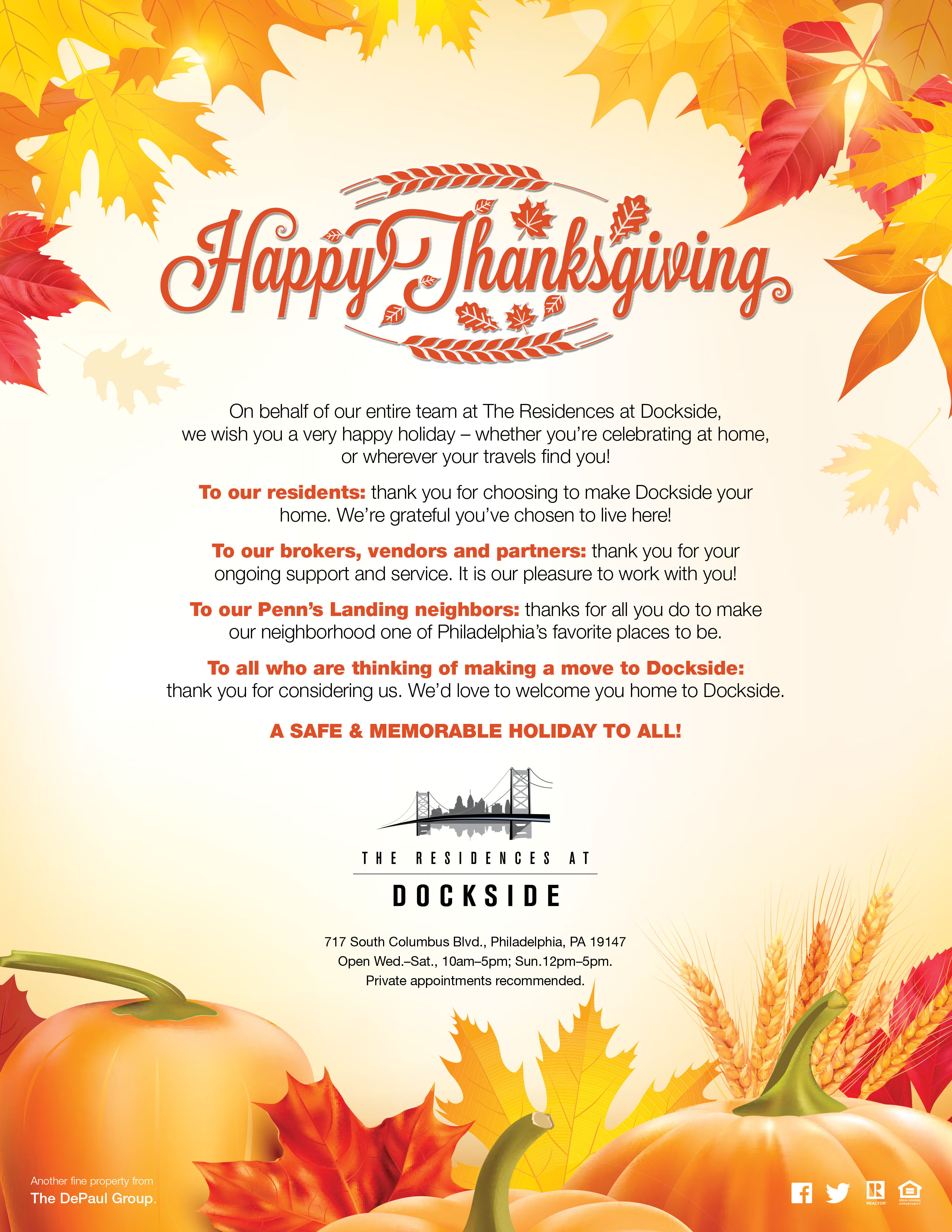Dockside Thanksgiving Greeting 2017