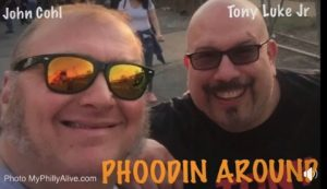 "Screen shot from ""Phoodin Around"" web show with Tony Luke Jr and J Cohl"