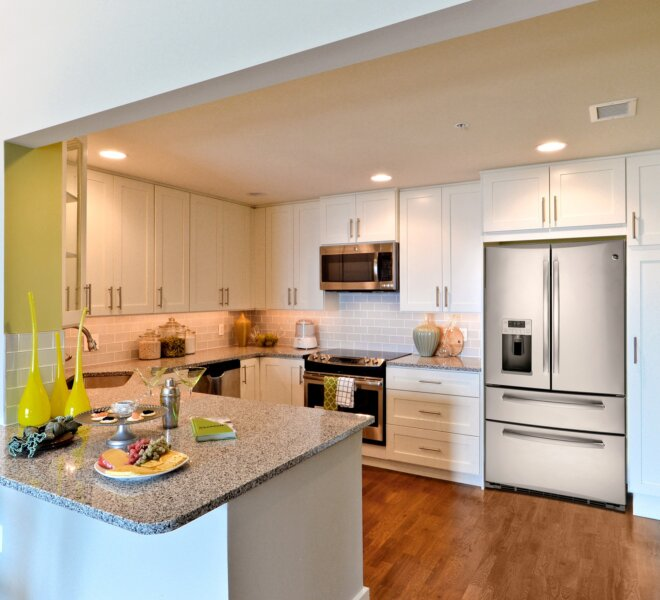 kitchen at The Residences of Dockside luxury condos in Philadelphia