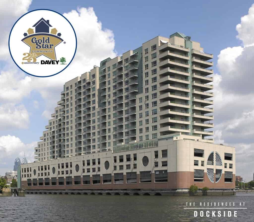 dockside condos with gold star logo