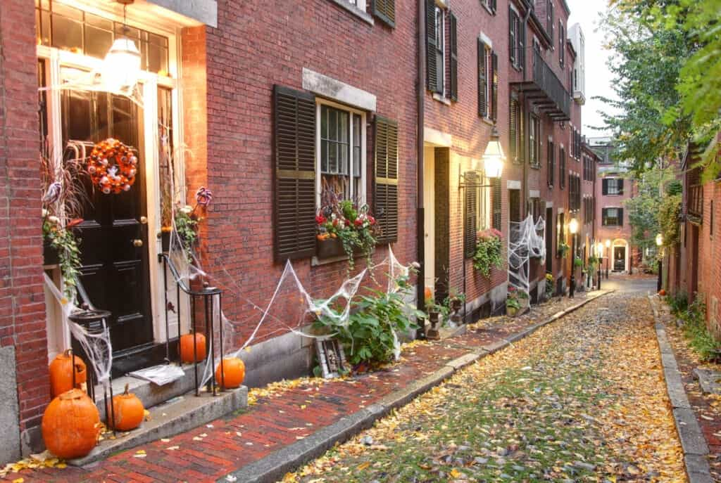 Halloween decorations in Philadelphia