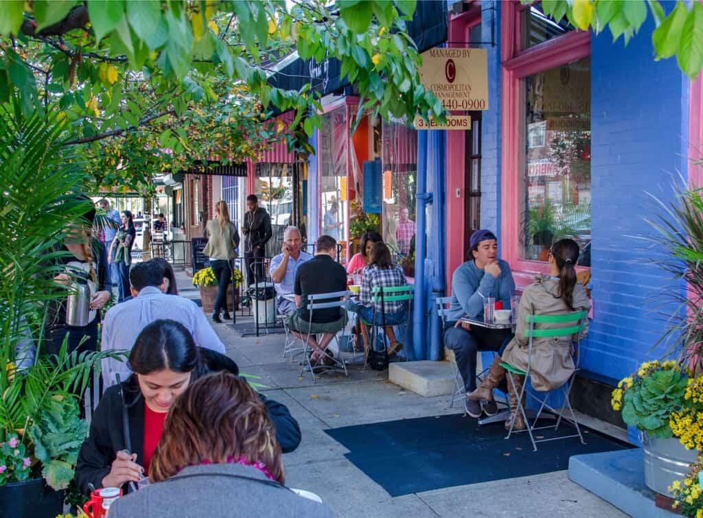 Outdoor Cafe in Philadelphia's Bella Vista Neighborhood