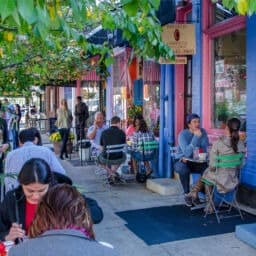Outdoor Cafe in Philadelphia's Bella Vista Neighborhood