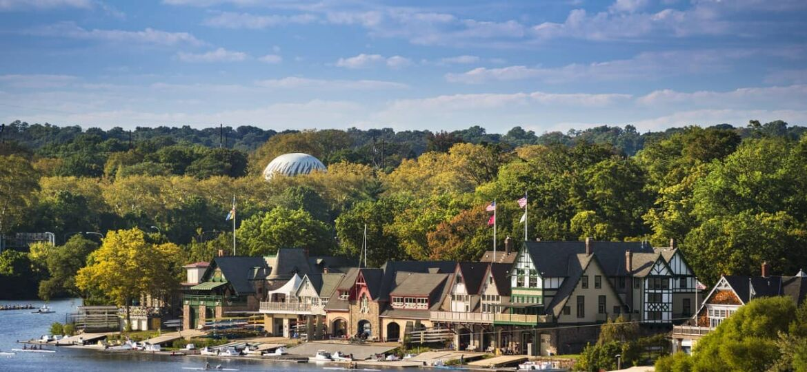 Boathouse row in Philadelphia